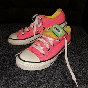 Neon converse sneakers